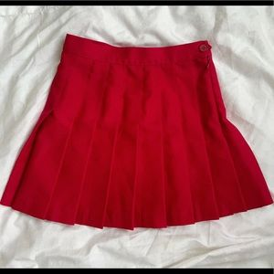 American Apparel Red Tennis Skirt